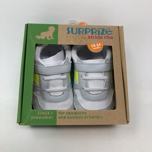 Surprize Stride Rite Baby Shoes White Sneakers